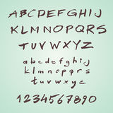 Hand written retro vector font Royalty Free Stock Photo