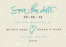 Hand-written Save the Date stock images