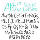 Hand-written script letters Stock Photo
