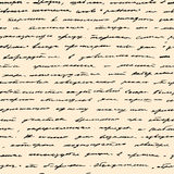 Hand written text. Vector seamless background Royalty Free Stock Photo