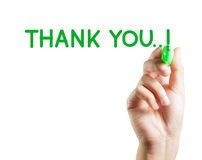 Hand written thank you Royalty Free Stock Photos