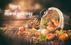 Hand written Thanksgiving invitation stock image