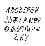 Hand written vector alphabet. Set stock illustration