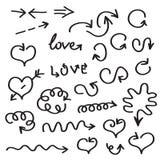 Hand written vector arrows Stock Image