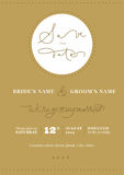 Hand written wedding invitation - Save the Date royalty free stock image