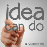 Hand writting idea can do Stock Image
