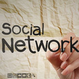 Hand writting  social network structure Royalty Free Stock Photo