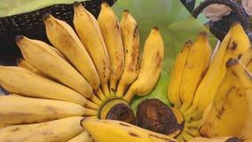 Hand of yellow banana Royalty Free Stock Photo