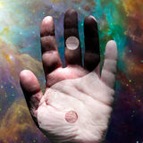 Hand Yin Yang Stock Photo