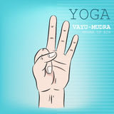 Hand in yoga mudra. Vayu-Mudra Royalty Free Stock Images
