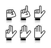 Hand zählend, kennzeichnet - den Vektor, der auf Weiß getrennt wird vektor abbildung