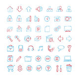 Hand-zeichnen Sie Web-Ikonen Stockbild