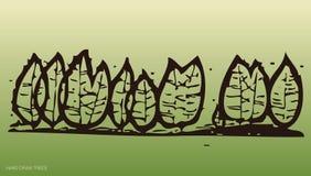 Hand zeichnet Bäume und Umgebung 3 lizenzfreie abbildung