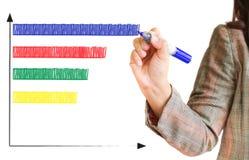 Hand zeichnet ein Diagramm Lizenzfreie Stockfotografie