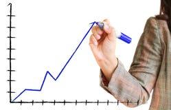 Hand zeichnet ein Diagramm Lizenzfreies Stockfoto
