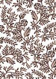 Hand-Zeichnung Blumenverzierung Lizenzfreies Stockfoto
