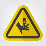 Hand zerquetschen Kraft vom oben genannten Symbol-Zeichen-Isolat auf weißem Hintergrund, Vektor-Illustration ENV 10 lizenzfreie abbildung