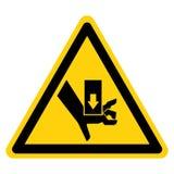 Hand zerquetschen Kraft vom oben genannten Symbol-Zeichen-Isolat auf wei?em Hintergrund, Vektor-Illustration vektor abbildung