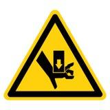 Hand zerquetschen Kraft vom oben genannten Symbol-Zeichen, Vektor-Illustration, Isolat auf wei?em Hintergrund-Aufkleber EPS10 lizenzfreie abbildung