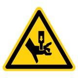 Hand zerquetschen Kraft vom oben genannten Symbol-Zeichen, Vektor-Illustration, Isolat auf wei?em Hintergrund-Aufkleber EPS10 vektor abbildung