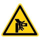 Hand zerquetschen Kraft vom rechten Symbol-Zeichen, Vektor-Illustration, Isolat auf weißem Hintergrund-Aufkleber EPS10 stock abbildung