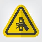 Hand zerquetschen Kraft vom Spitzen- und unteren Symbol-Zeichen-Isolat auf weißem Hintergrund, Vektor-Illustration ENV 10 stock abbildung