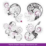 Hand_drawn_design_elements_set Royalty Free Stock Image