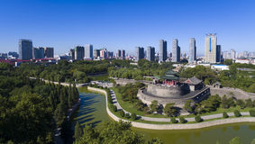 Handan hebei Κίνα πάρκων Congtai στοκ εικόνα