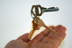 Handandkeys3. Keys tossed into the air royalty free stock photography