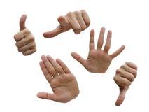 Handansammlung stockbild