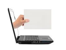 handanteckningsbok för blankt kort Arkivfoton