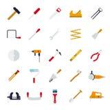 In Handarbeit machen Werkzeug-der flachen Design-Vektor-Ikonen-Sammlung Lizenzfreies Stockbild