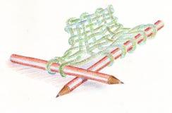 handarbete stock illustrationer