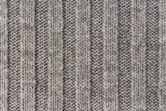 handarbete Lodlinjen gjorde randig textur för grå färgrät maskatyg, stucken modellbakgrund royaltyfri bild