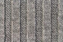 handarbete Lodlinjen gjorde randig textur för grå färgrät maskatyg, stucken modellbakgrund royaltyfri foto
