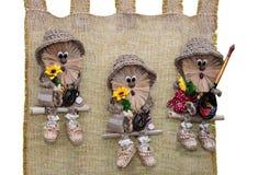 Handarbete original- leksaker i form av underhållande dockor Royaltyfria Foton
