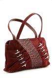 Handbag. Small woman bag of red colour Stock Photography