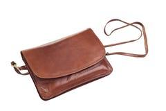 Handbag. Brown handbag isolated on white Royalty Free Stock Photography