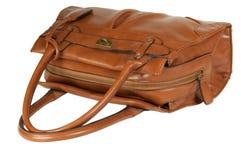 Handbag. Leather purse isolated on white Stock Images