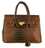 Handbag. Brown handbag isolated on white background Royalty Free Stock Photos
