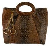 Handbag. Brown woman handbag isolated white Stock Image