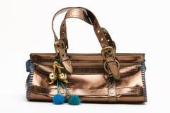 Handbag. Very glimmery handbag with adornments royalty free stock photo