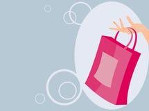 Handbag. Vector image of handbag in woman arm. may be use for retail Royalty Free Stock Image