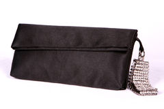 Handbag. Black handbag with crystal bracelet Stock Photography