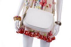 Handbag and accessories on mannequin. Royalty Free Stock Images