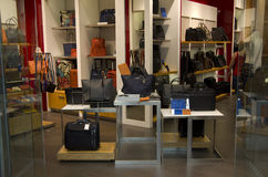 Handbag, briefcase store Royalty Free Stock Photo