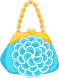 Handbag. With the decor in the form of a flower Royalty Free Stock Photos