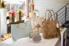 Handbag display Royalty Free Stock Photos
