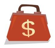 Handbag with dollar sign vector illustration. Stock Photo