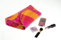 Handbag essentials Stock Photo
